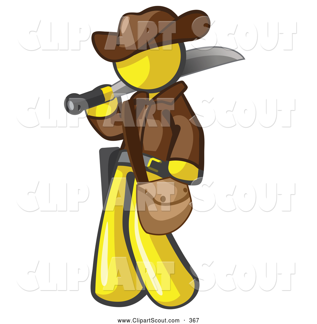 Royalty Free Yellow Man Stock Scout Designs