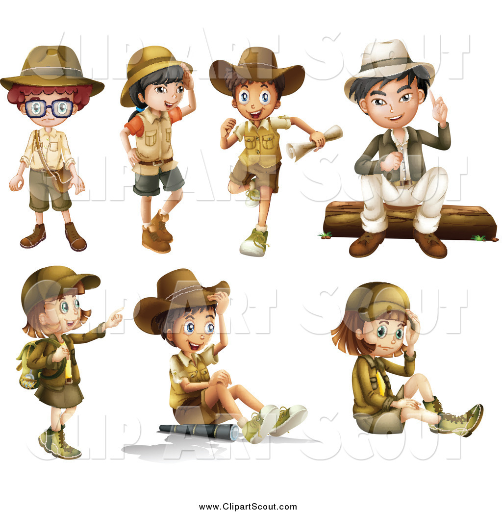Clipart of Explorer Boys and Girls by colematt - #387