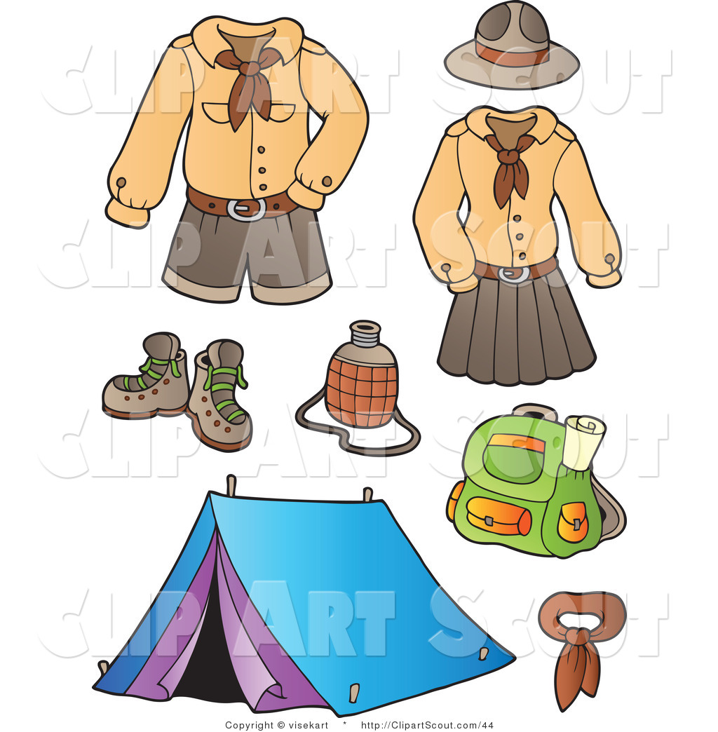 Girl Scout Camping Clipart Girl Scout