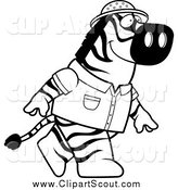 April 9th, 2014: Clipart of a Black and White Safari Zebra Walking Upright by Cory Thoman