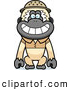Clipart of a Cheerful Gibbon Monkey Explorer by Cory Thoman