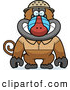 Clipart of a Cute Baboon Monkey Explorer by Cory Thoman
