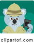 Clipart of a Cute Koala Bear Explorer Character by Dennis Holmes Designs