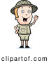 Clipart of a Cute Waving Blond Safari Boy by Cory Thoman