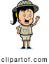Clipart of a Cute Waving Happy Safari Girl by Cory Thoman