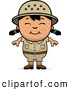 Clipart of a Friendly Happy Asian Safari Girl by Cory Thoman