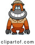 Clipart of a Friendly Orangutan Monkey Explorer by Cory Thoman