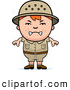 Clipart of a Grumpy Angry Red Haired Safari Boy by Cory Thoman