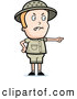 Clipart of a Mad Safari Boy Pointing to the Right by Cory Thoman