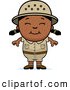 Clipart of a Smiling Happy Black Safari Girl by Cory Thoman
