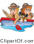 Vector Clipart of a Dog Boy and Girl Scouts Boating by Visekart