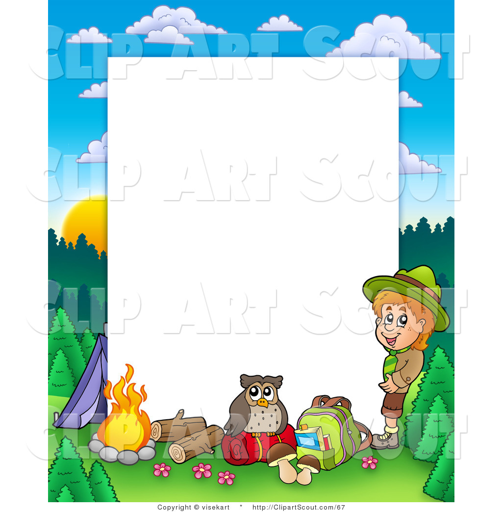 clipart of a boy camping in the wild border frame around campfire clipart black and white free campfire clip art free