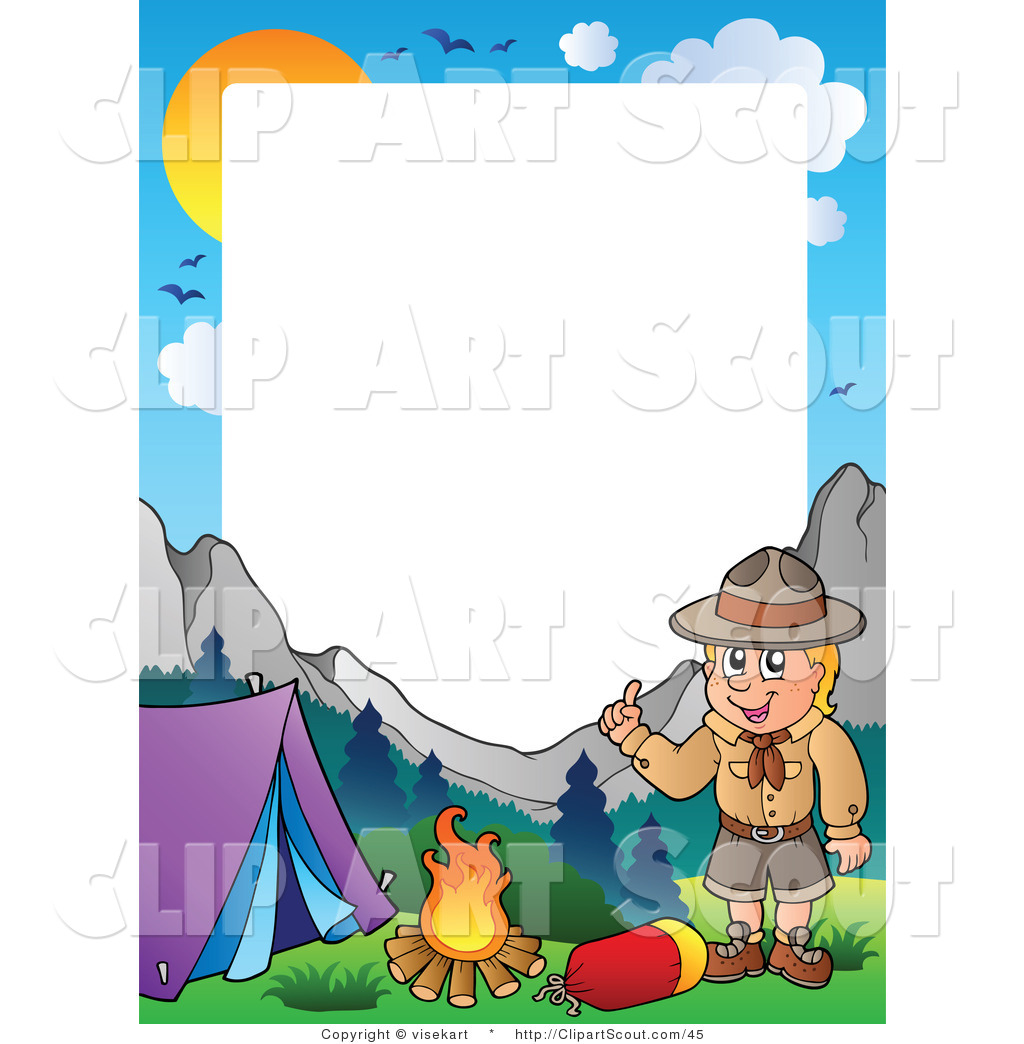 clipart of a boy scout camping frame by visekart 45 baby boy clipart border baby boy clipart png